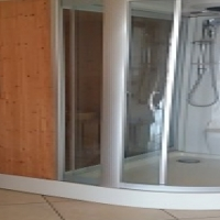 Sauna / shower combo
