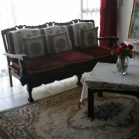 Imbuia Lounge Suite (7 piece) & Display Cabinet