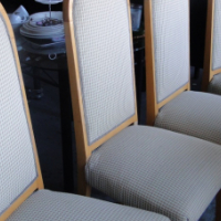Beautiful Oak Fabric Dinning Room Chairs In A Fantastic Condition For Sale At R750Used Dining Furniture Cape Town Junk Mail