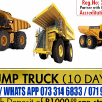 777 ADT Dump truck training with Drill rig LHD scoop Excavator Rustenburg town free accommodation
