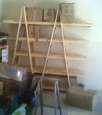 Trestle shelving Double A Frame 5 Tier 2440 Raw