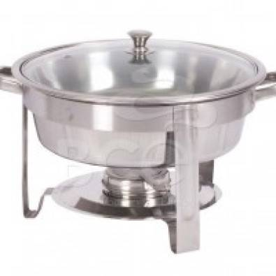 Chafing Dish Stainless Steel- Round Chafer With Gl