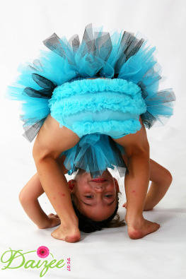 XShort Daizee Fairy tutu, turquoise and black with bloomerS