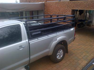Canvas canopy and steel support frame