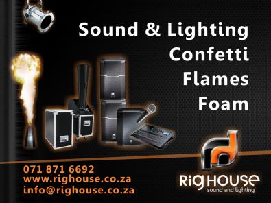 Screens/Smoke/Foam/Sound/PA/AV/Lights/Confetti