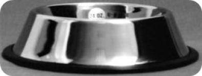 Stainless steel non-tip anti-skid bowl