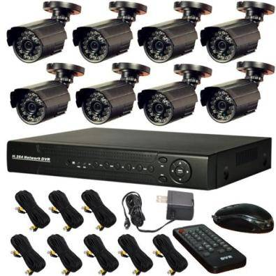 8 Camera CCTV Security Recording System With Inter