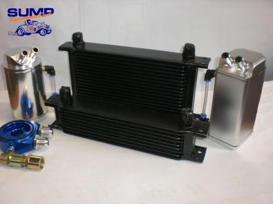 oil cooler, oil catch tank and sandwich adaptor