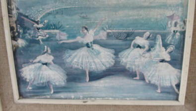Ballet Dancers painting in good condition..