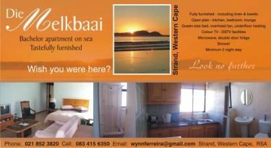 Beachfront flat-  Strand,Western Cape - STILL AVAI