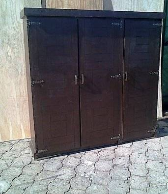 Kitchen Cupboard Farmhouse series Free standing 1800 with 3 doors Stained