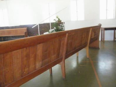 Wooden church benches,Yellow wood