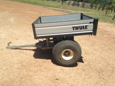 Thule motorcycle trailer with spray tanks for sale | Junk Mail