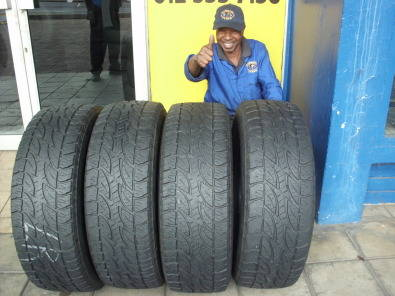 BARGAIN USED TYRES 60%-80% TREAD