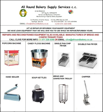 BAKERY AND CATERING EQUIPMENT SPECIALS!