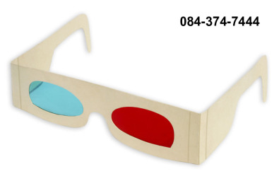 3D Anaglyph Glasses - Recycled Cardboard Frames