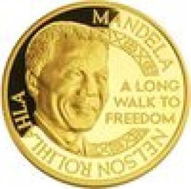 Mandela Nobel Prize Gold Medallion, used for sale  Midrand