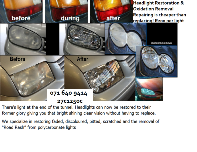 Headlight Restoration & Oxidation removal