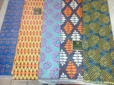 Wax Prints, different ranges in various colours