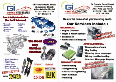 Spare parts and repair service for all cars