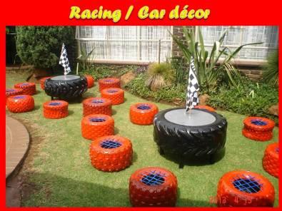 Racing / Motor / Car Decor KIDS parties to hire