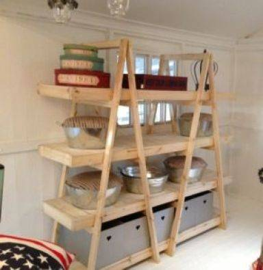 Trestle shelving Double A Frame 4 Tier 1800 Raw