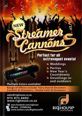 Confetti Cannons and Confetti Blasters