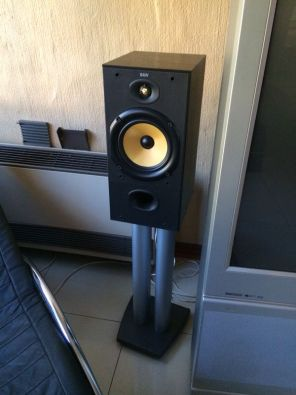 BW DM602 Bookshelf Speakers With Stands For Sale