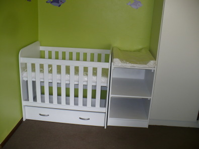 Cot and changing table sets