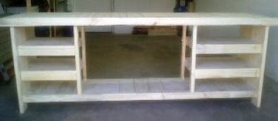 Tv display unit Farmhouse series 1900 with closed ends