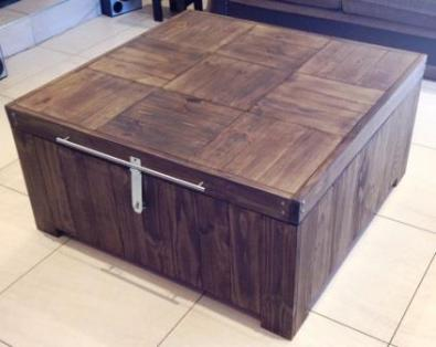 Coffee table Farmhouse series 1100 square Box shape Stained