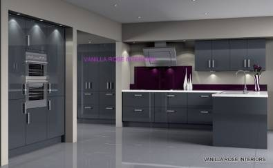 Beautiful high gloss kitchens