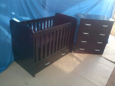 new Std cot with drawer + chest of drawers
