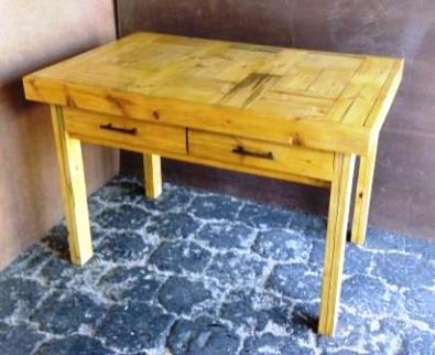 Study desk Farmhouse series 1175 with drawers Varnished