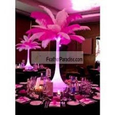 60cm Crystal Eiffel Tower Vase With Feathers Junk Mail
