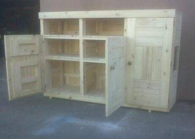 Kitchen Cupboard Farmhouse series Free standing 1700 with 3 doors