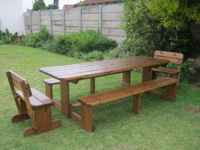 Caprivi 10 Seater Bench Table