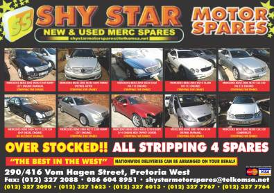 SHYSTAR MOTOR SPARES NEW & USED MERC SPARES ONLY