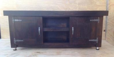 TV display unit Farmhouse series 1600 with doors Stained