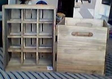 Wooden Wine Crates Junk Mail