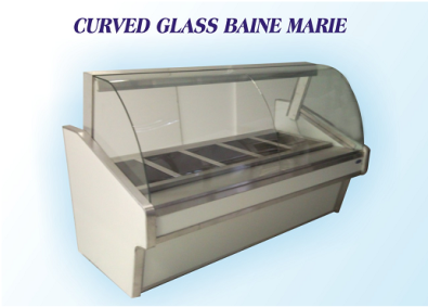Bain Marie curved glass