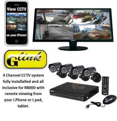 4 channel cctv system with remote view setup