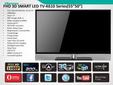 Hisense 55 K610 series 3D led tv | Junk Mail