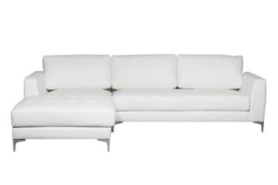 White Oxford L Shape Couch Junk Mail