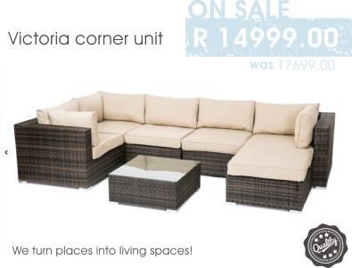 Victoria Corner Patio Lounge Set On Sale!