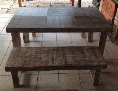Patio table Farmhouse series 1615 Combo Glazed