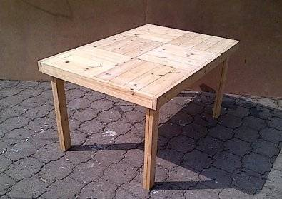 Patio table Farmhouse series 1440 Raw