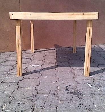 Patio table Farmhouse series 1440 Raw