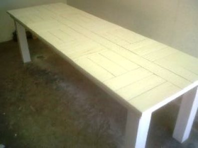 Patio table Cottage series 2450 White wash