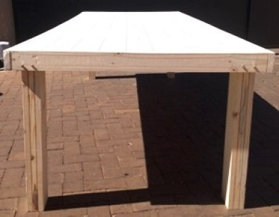 Patio table Farmhouse series 2950 Raw